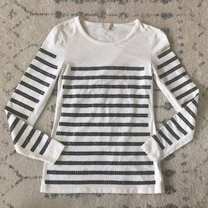 Sequin Striped Shirt Small